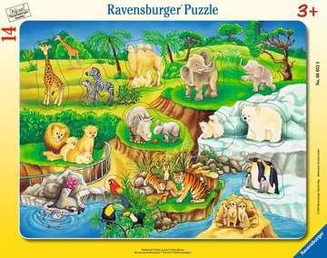 06052 Kinderpuzzle Zoobesuch von Ravensburger 1