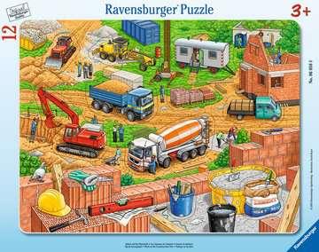 06058 Kinderpuzzle Arbeit auf der Baustelle von Ravensburger 1