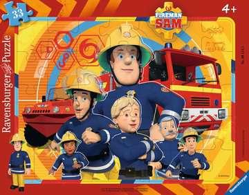 06114 Kinderpuzzle Sam, der Feuerwehrmann von Ravensburger 1