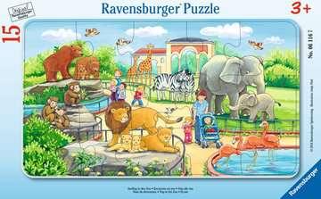 Puzzle cadre 15 p - Excursion au Zoo Puzzle;Puzzle enfant - Image 1 - Ravensburger