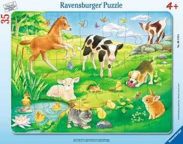 Tiere auf der Wiese Puzzle;Kinderpuzzle - Bild 1 - Ravensburger