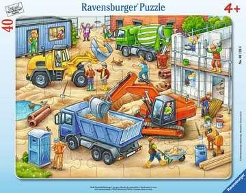 06120 Kinderpuzzle Große Baustellenfahrzeuge von Ravensburger 1