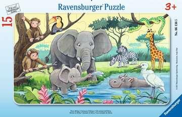 Africká zvířata 15 dílků 2D Puzzle;Dětské puzzle - obrázek 1 - Ravensburger