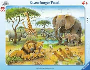 06146 Kinderpuzzle Afrikas Tierwelt von Ravensburger 1
