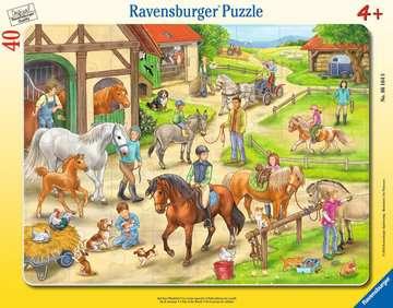 Na koňské farmě 40 dílků 2D Puzzle;Dětské puzzle - obrázek 1 - Ravensburger