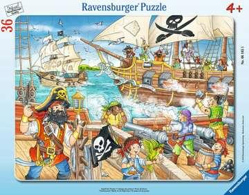 06165 Kinderpuzzle Angriff der Piraten von Ravensburger 1