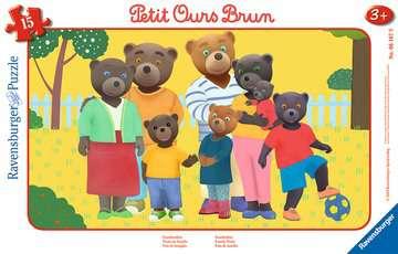 Puzzle cadre 15 p - Photo de famille / Petit Ours Brun Puzzle;Puzzle enfant - Image 1 - Ravensburger