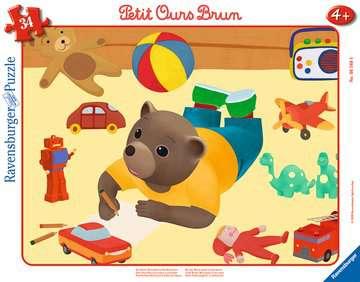 Puzzle cadre 30-48 p - Petit Ours Brun joue dans sa chambre Puzzle;Puzzle enfant - Image 1 - Ravensburger