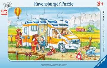 06170 Kinderpuzzle Krankenwagen im Einsatz von Ravensburger 1