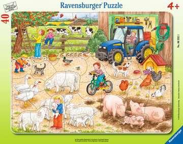 Puzzle cadre 30-48 p - A la ferme Puzzle;Puzzle enfant - Image 1 - Ravensburger