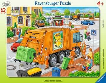 06346 Kinderpuzzle Müllabfuhr von Ravensburger 1