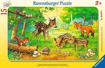 06376 Kinderpuzzle Tierkinder des Waldes von Ravensburger 1