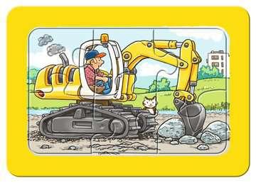 06573 Kinderpuzzle Bagger, Traktor und Kipplader von Ravensburger 3
