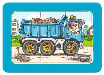 06573 Kinderpuzzle Bagger, Traktor und Kipplader von Ravensburger 4