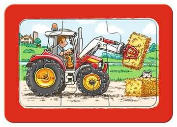 Graafmachine, tractor en kiepauto / Excavateur, tracteur et chargeur à bascule Puzzle;Puzzles enfants - Image 5 - Ravensburger