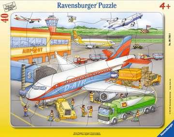 06700 Kinderpuzzle Kleiner Flugplatz von Ravensburger 1
