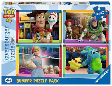 Toy story 4 Ravensburger Puzzle  4x42 Bumper Pack Puzzle;Puzzle per Bambini - immagine 1 - Ravensburger