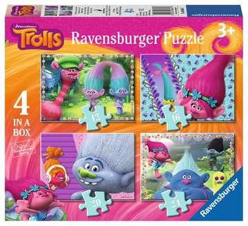 Trolls 4 in Box Puzzles;Children s Puzzles - image 1 - Ravensburger