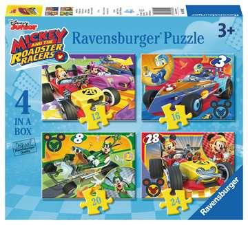 MICKEY RAŹNI RAJDOWCY 4 W 1 Puzzle;Puzzle dla dzieci - Zdjęcie 1 - Ravensburger