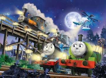Thomas & Friends Giant Floor Glow in the Dark Puzzle, 60pc Puzzles;Children s Puzzles - image 2 - Ravensburger