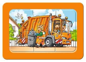 06944 Kinderpuzzle Müllabfuhr, Krankenwagen, Abschleppwagen von Ravensburger 2