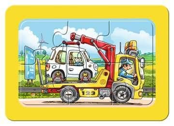 06944 Kinderpuzzle Müllabfuhr, Krankenwagen, Abschleppwagen von Ravensburger 3