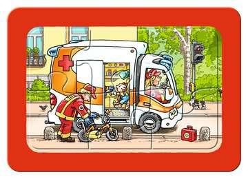 06944 Kinderpuzzle Müllabfuhr, Krankenwagen, Abschleppwagen von Ravensburger 4