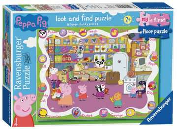 Peppa Pig My First Floor Puzzle, 16pc Puzzles;Children s Puzzles - image 1 - Ravensburger