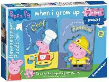 Peppa Pig My First Puzzles, 6x2pc Puzzles;Children s Puzzles - image 1 - Ravensburger