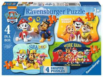 Paw Patrol Four Shaped Puzzles Puzzles;Children s Puzzles - image 1 - Ravensburger