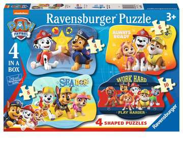 Paw Patrol Four Shaped Puzzles Puzzles;Children s Puzzles - image 2 - Ravensburger