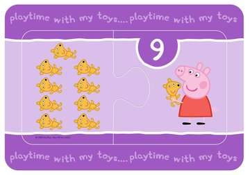 Peppa Pig My First Match and Count Puzzles, 9 x2pc Puzzles;Children s Puzzles - image 9 - Ravensburger