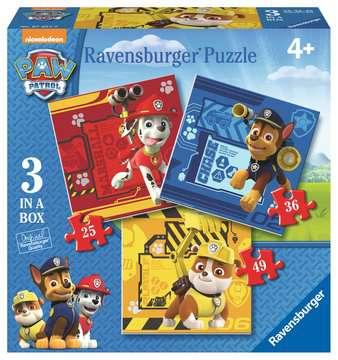 Tlapková Patrola: Rubble, Marshall a Chase 3 v 1 2D Puzzle;Dětské puzzle - obrázek 1 - Ravensburger