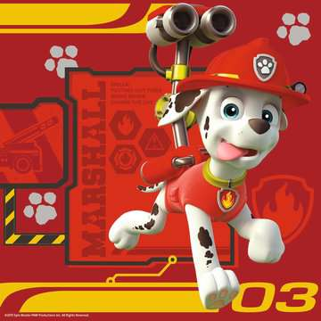 Tlapková Patrola: Rubble, Marshall a Chase 3 v 1 2D Puzzle;Dětské puzzle - obrázek 4 - Ravensburger