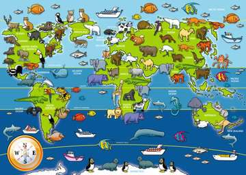 Animals of the World Giant Floor Puzzle, 60pc Puzzles;Children s Puzzles - image 2 - Ravensburger