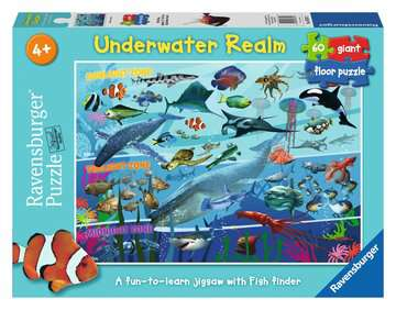 Underwater Realm Giant Floor Puzzle, 60pc Puzzles;Children s Puzzles - image 1 - Ravensburger