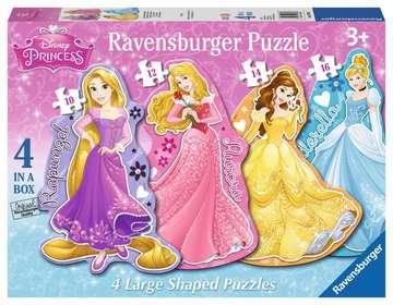 Princess 4 Shaped Puzzles (10,12,14,16pc) Puzzles;Children s Puzzles - image 1 - Ravensburger