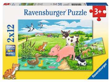 Tierkinder auf dem Land Puzzle;Kinderpuzzle - Bild 1 - Ravensburger