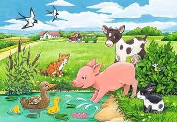 07582 Kinderpuzzle Tierkinder auf dem Land von Ravensburger 2