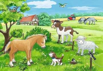 07582 Kinderpuzzle Tierkinder auf dem Land von Ravensburger 3