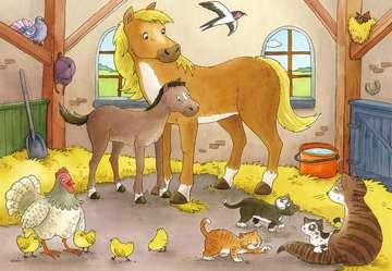 07590 Kinderpuzzle Glückliche Tierfamilien von Ravensburger 2