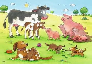 07590 Kinderpuzzle Glückliche Tierfamilien von Ravensburger 3