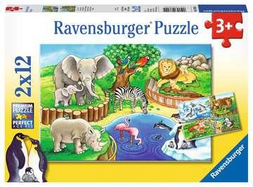 Animals in the Zoo Puslespil;Puslespil for børn - Billede 1 - Ravensburger