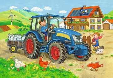 Baustelle und Bauernhof   2x12p Puslespil;Puslespil for børn - Billede 2 - Ravensburger