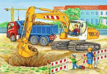 Baustelle und Bauernhof   2x12p Puslespil;Puslespil for børn - Billede 3 - Ravensburger