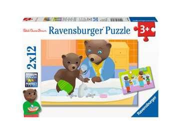Puzzles 2x12 p - La famille de Petit Ours Brun Puzzle;Puzzle enfant - Image 1 - Ravensburger