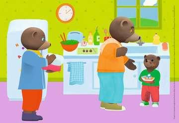 Puzzles 2x12 p - La famille de Petit Ours Brun Puzzle;Puzzle enfant - Image 3 - Ravensburger