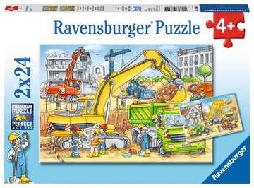 Puzzles 2x24 p - Beaucoup de travail sur le chantier Puzzle;Puzzle enfant - Image 1 - Ravensburger