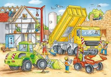 Puzzles 2x24 p - Beaucoup de travail sur le chantier Puzzle;Puzzle enfant - Image 2 - Ravensburger