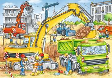 Puzzles 2x24 p - Beaucoup de travail sur le chantier Puzzle;Puzzle enfant - Image 3 - Ravensburger
